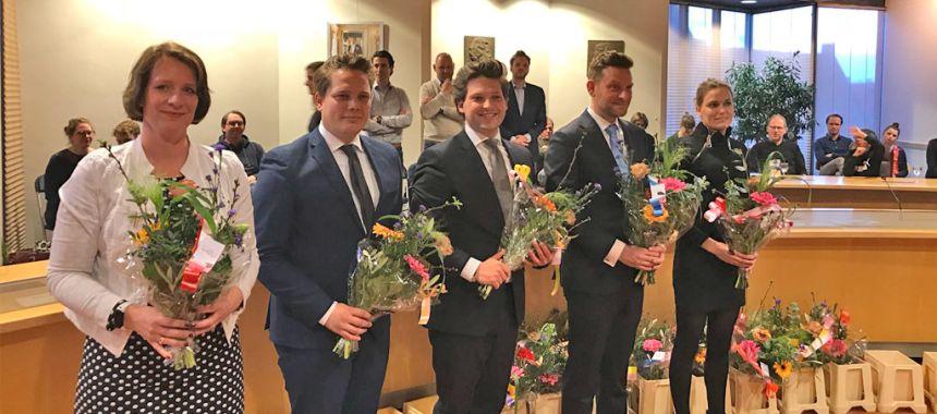 VVD-Zwolle_installatie-nieuwe-raad_Annemee-van-de-Klundert_Johran-Willegers_Thom-van-Campen_Hans-Wijnen_Jolanda-Kok_29032018.jpg