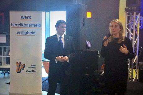 Minister Schultz van Haegen ondersteunt VVD Zwolle